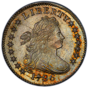 Obverse of 1796 Dime
