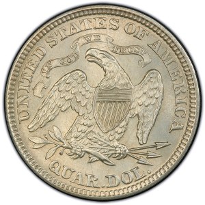 Reverse of 1873 Arrows at Date Quarter Dollar