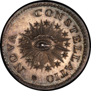 Obverse of 1783 Nova Constellatio 1000 Units