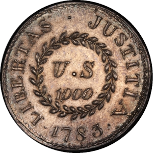Reverse of 1783 Nova Constellatio 1000 Units