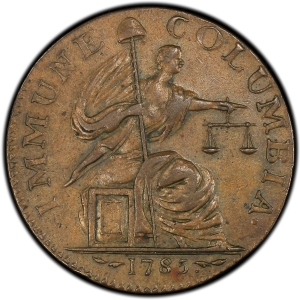 Obverse of 1785 Immune Columbia Silver Pattern 13 Stars