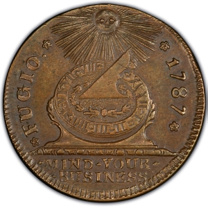 Obverse of Fugio Cent