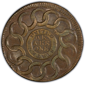 Reverse of Fugio Cent