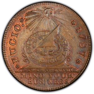 Obverse of Fugio Cent Restrike