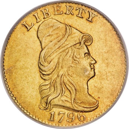 "Obverse of 1796 ""No Stars"" Quarter Eagle"
