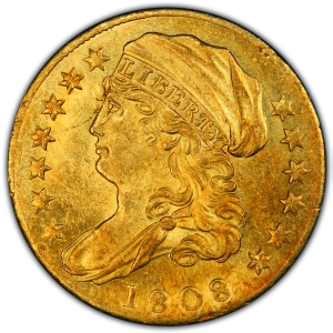 Obverse of 1808 Quarter Eagle