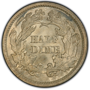 Reverse of 1860 Transitional Half Dime