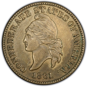 Obverse of 1861 Confederate Cent