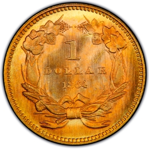 Reverse of 1864 Gold Dollar