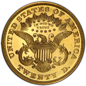 Reverse of 1875 Double Eagle