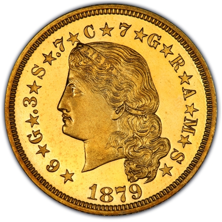 Obverse of 1879 Flowing Hair Stella
