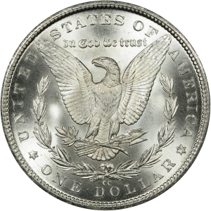 Reverse of 1884-CC Morgan Silver Dollar