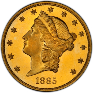 Obverse of 1885 Double Eagle