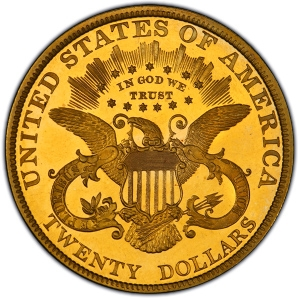 Reverse of 1885 Double Eagle