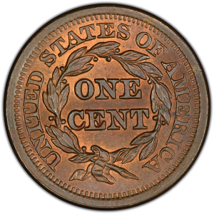 Reverse of 1851 Large Cent