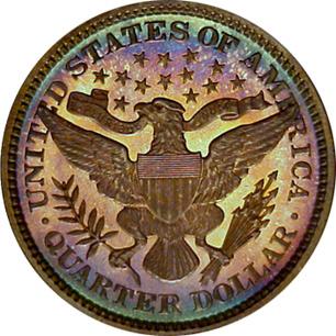 1898 Barber Quarter (Reverse)