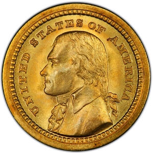 Obverse of 1903 Louisana Purchase Gold Dollar