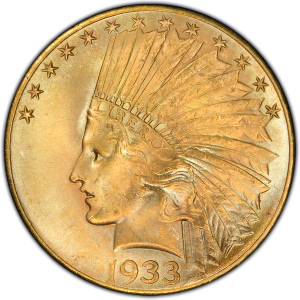 Obverse of Indian Head $10 Eagle