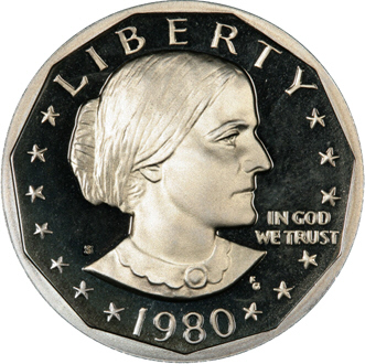 US One Dollar Susan B Anthony 1980-S Deep Cameo GEM Proof