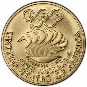Reverse of 1988 $5 Gold Commemorative