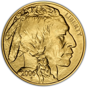 Obverse of 2006 $50 Gold Buffalo