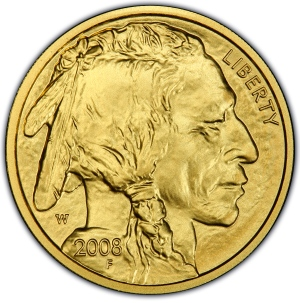 Obverse of 2008-W $10 Gold Buffalo
