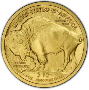 Reverse of 2008-W $10 Gold Buffalo