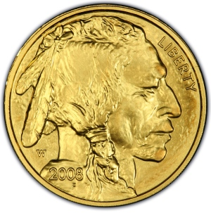 Obverse of 2008-W $25 Gold Buffalo