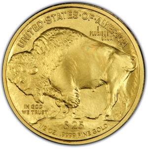 Reverse of 2008-W $25 Gold Buffalo