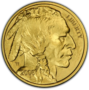 Obverse of 2008-W $5 Gold Buffalo
