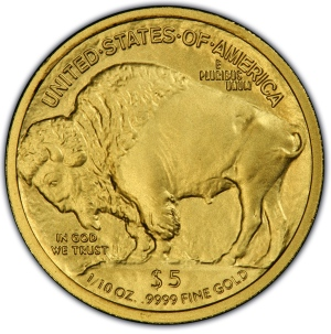 Reverse of 2008-W $5 Gold Buffalo