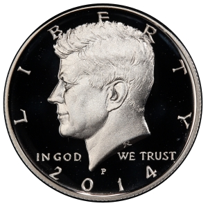 Obverse of 2014-P Kennedy Half Dollar