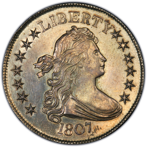 Obverse of 1807 Half Dollar