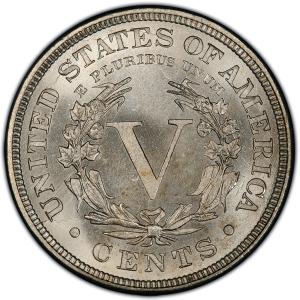 Reverse of 1884 Liberty Nickel