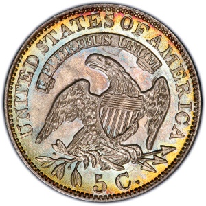 Reverse of 1829 Half Dime