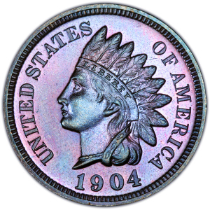 Obverse of 1904 Indian Head Cent