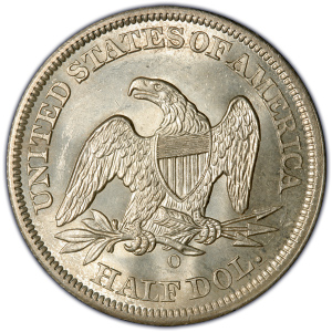 Reverse of 1854 Arrows at Date Half Dollar