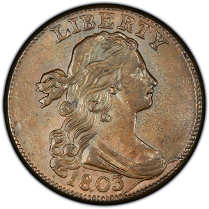 Obverse of 1803 Large Cent