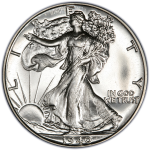 Obverse of 1940 Half Dollar