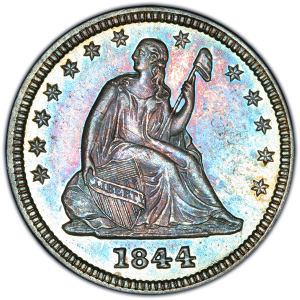 Obverse of 1844 Quarter Dollar