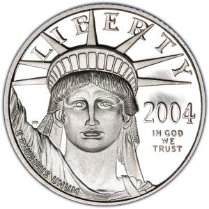 Obverse of 2004-W Platinum Eagle $10
