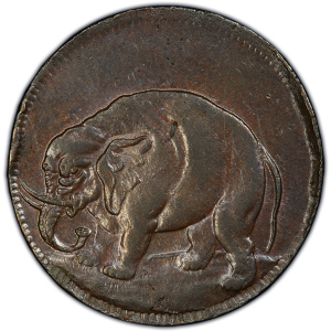 Obverse of Elephant Token - Thick