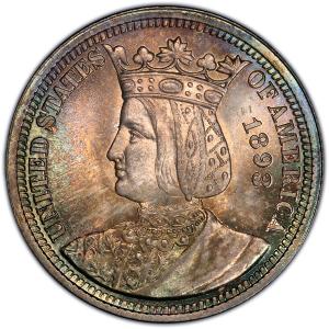 Obverse of Isabella Quarter Dollar