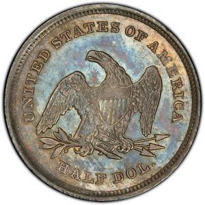 Reverse of 1839 No Drapery Half Dollar