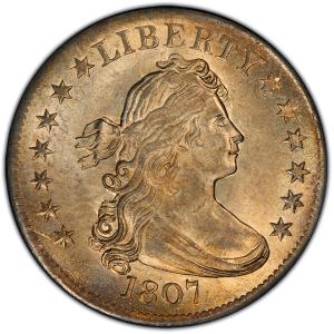 Obverse of 1807 Quarter Dollar
