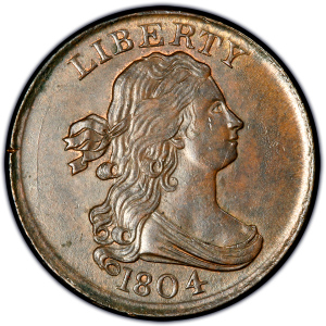 1804 Draped Bust Half Cent Obverse