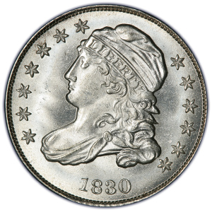 Obverse of 1830 Dime