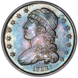 Obverse of 1833 Quarter Dollar