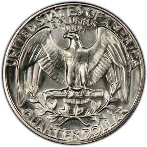 Reverse of 1965 Washington Quarter Dollar