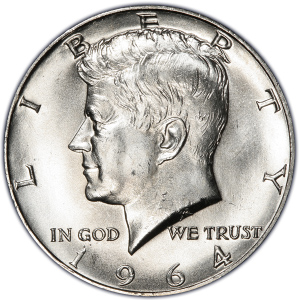 Obverse of 1964-D Half Dollar